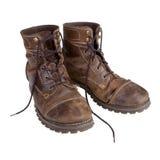 Gammala läderkängor Royaltyfria Foton