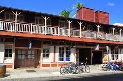 Gammala Lahaina skyltfönster, Maui Royaltyfri Bild