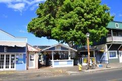Gammala Lahaina skyltfönster, Maui Arkivfoton
