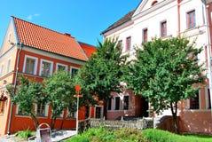 gammala ljusa byggnader Fotografering för Bildbyråer
