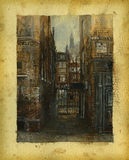 gammala london Arkivfoto