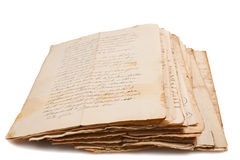 Gammala manuskript Royaltyfri Fotografi