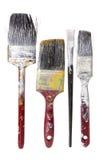 Gammala målarfärgborstar Fotografering för Bildbyråer
