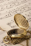 gammala musikaliska anmärkningar Royaltyfri Fotografi