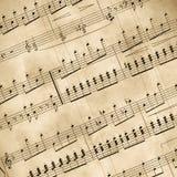 gammala musikaliska anmärkningar Fotografering för Bildbyråer