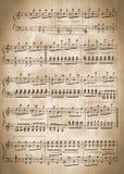 gammala musikaliska anmärkningar Royaltyfria Foton