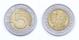 Gammala mynt Arkivfoto