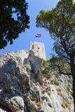 gammala omis för croatia fort Royaltyfri Foto
