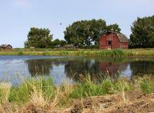gammala outbuildings för farmyard arkivbilder