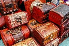 Gammala påsar för bagage Arkivfoto