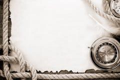 gammala paper rep för kompassgrunge Arkivbild