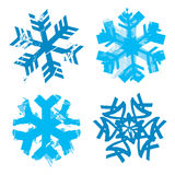 gammala paper snowsnowflakes för grunge Royaltyfri Bild