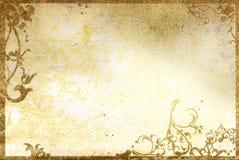 gammala paper stiltexturer för blom- ram Arkivbild