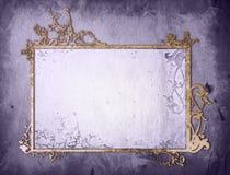 gammala paper stiltexturer för blom- ram Royaltyfria Bilder