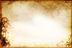 gammala paper stiltexturer för blom- ram Royaltyfri Bild