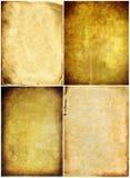 gammala paper texturer för samling Arkivbilder