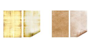 gammala papperen Antikvarisk sida Tappningpergament arkivbilder