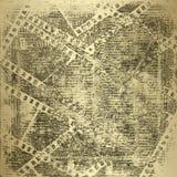 gammala papperen för filmstripgrunge Royaltyfri Bild