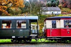 gammala passagerarevagnar Arkivfoto