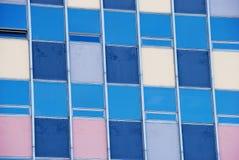 gammala pastellfärgade perspektivfönster för kulör grunge Arkivfoton