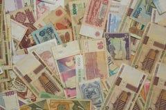 gammala pengar Bakgrund Arkivbilder