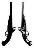 gammala pistoler Arkivfoto