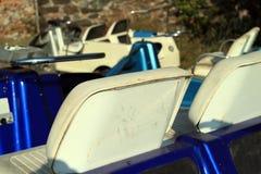 Gammala platser för golfvagn Royaltyfri Fotografi