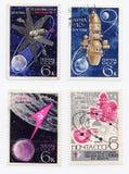 gammala portostämplar Royaltyfri Fotografi