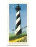 gammala portostämplar USA för fyr Royaltyfri Foto