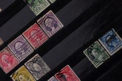 Gammala portostämplar från USA Arkivfoto