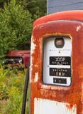 gammala pumpar för gas Arkivbilder