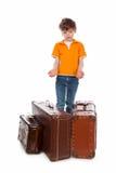 gammala resväskor Fotografering för Bildbyråer