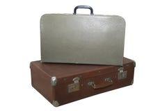 gammala resväskor två Arkivbild
