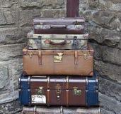 gammala resväskor Arkivbilder