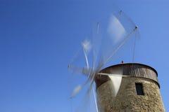 Gammala Rhodes windmills, Grekland Royaltyfria Foton