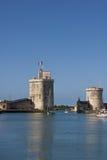 gammala rochelle för hamnla torn Arkivbild