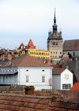 gammala rooftops för stad Royaltyfri Bild