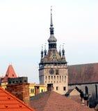 gammala rooftops för stad Fotografering för Bildbyråer