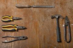 gammala rostiga hjälpmedel Royaltyfri Fotografi
