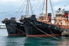 Gammala rostiga whalers Royaltyfri Bild