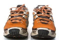Gammala running skor Fotografering för Bildbyråer