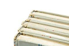 gammala ryggar för bok Arkivfoton