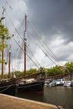 gammala sailingships två Arkivfoton