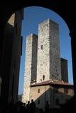 gammala san för gimignano torn Royaltyfria Bilder