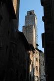 gammala san för gimignano torn Royaltyfri Fotografi