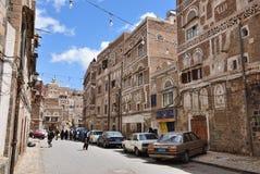 gammala sanaa yemen Fotografering för Bildbyråer