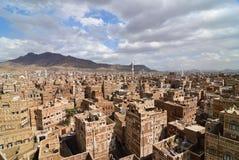 gammala sanaa yemen Arkivfoton