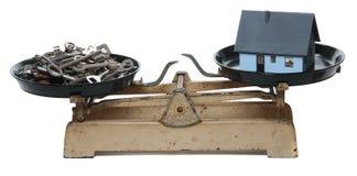 gammala scales för home tangenter Royaltyfri Fotografi