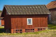 gammala scandinavian byar för hus Arkivfoto