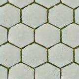 Gammala sexhörniga förberedande Slabs. Seamless texturera. Royaltyfri Fotografi